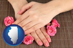 illinois a manicure (pink fingernails)